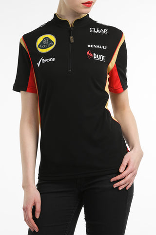 POLO SHIRT ladies Zip Formula One 1 Lotus F1 Team Sponsor Burn NEW!