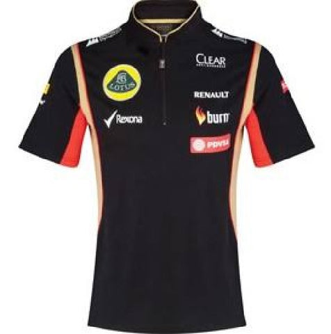 POLO SHIRT Tech ladies Zip Formula One 1 Lotus F1 Team Sponsor 2014/5 NEW