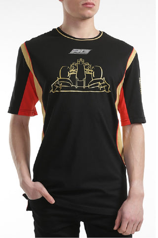 T-Shirt Lotus F1 Romain Grosjean Black