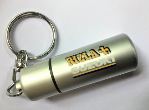 KEYRING Stash Screw Top Container Case Bike RIZLA SUZUKI MotoGP Pills Weed NEW C
