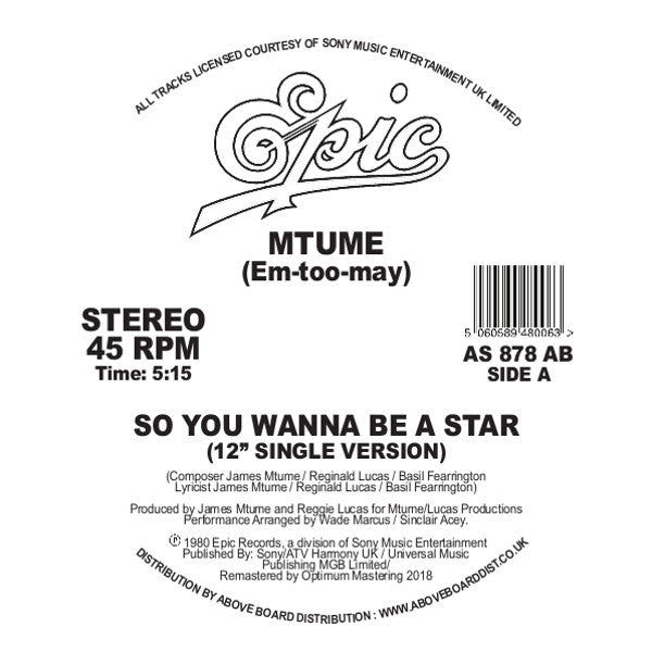 MTUME - SO YOU WANNA BE A STAR DANNY KRIVIT
