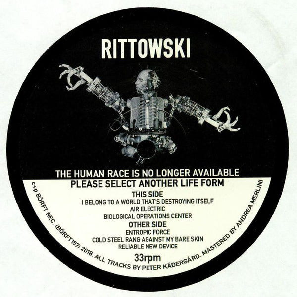 Rittowski - The human race is no longer available, please select another lifeform