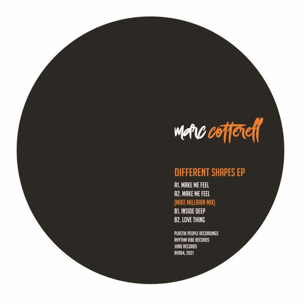 Marc COTTERELL - Different Shapes EP feat Mike Millrain remix (PRE-ORDER)