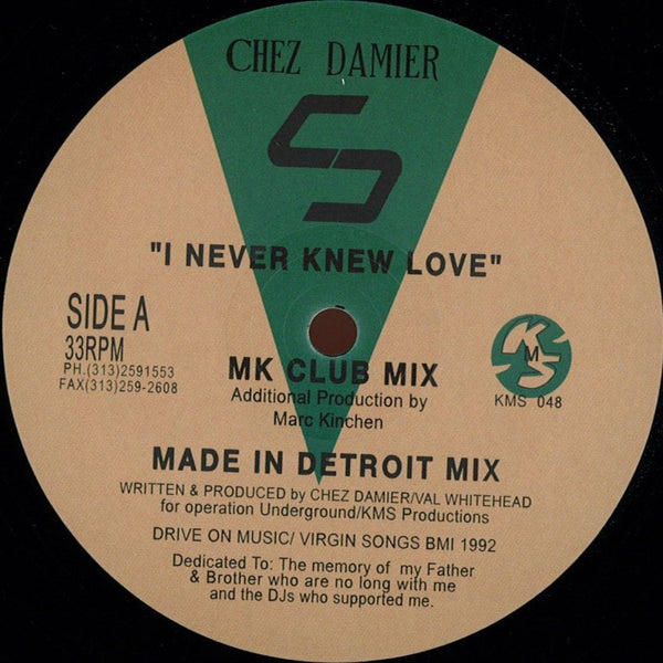 CHEZ DAMIER - I Never Knew Love (MK / Carl Craig Remixes)