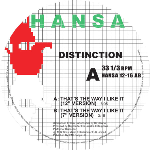 Distinction - That's the Way I Like It