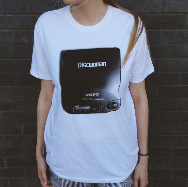 Discwoman White Disc Player Tee