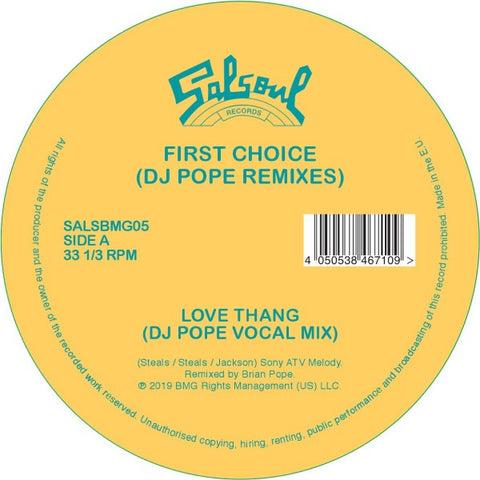 First Choice - Love Thang (DJ Pope Remixes)