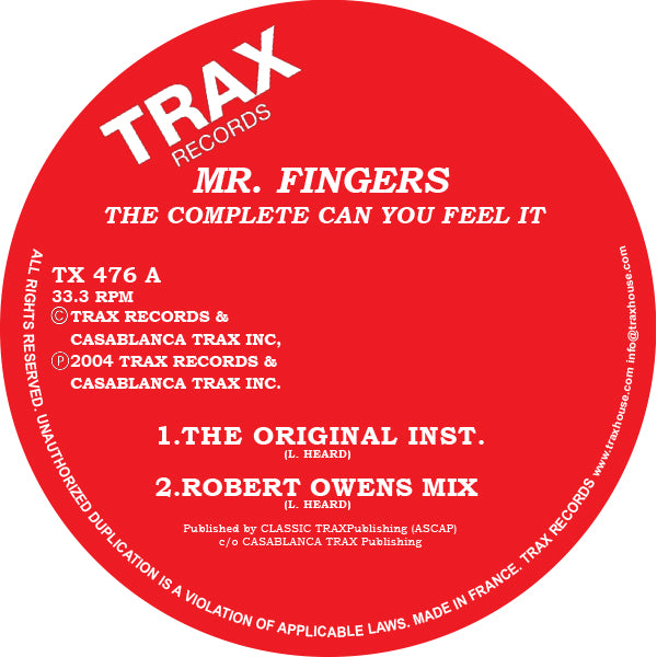 Mr. Fingers ‎– The Complete Can You Feel It