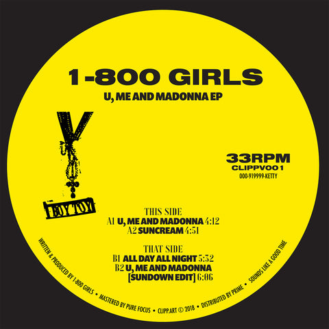 1-800 GIRLS ‎– U, Me And Madonna EP