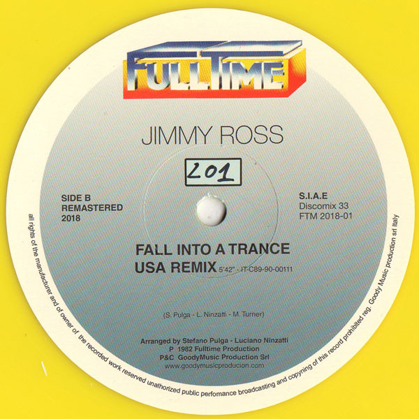 Kano / Jimmy Ross - can't hold back (your loving) / fall into a trance