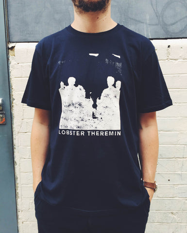 Lobster Theremin Daze Limited Edition Navy Stamp T-shirt - Lobster Records