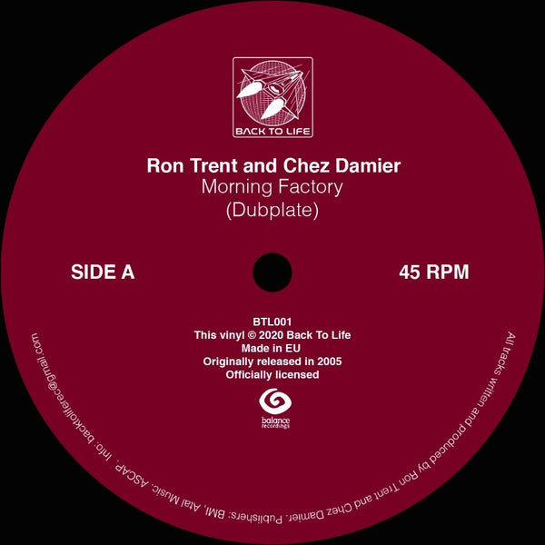 Ron Trent and Chez Damier - Morning Factory (PRE-ORDER)