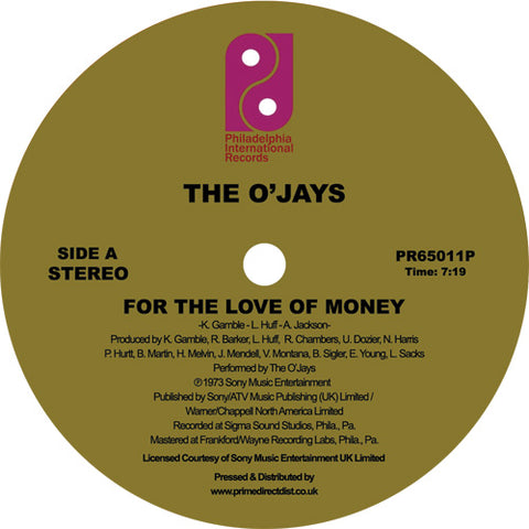 The O'Jays - For the Love of Money / Darlin' Darlin' Baby