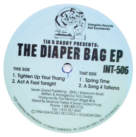 Tia's Daddy (Terrence Parker) - The Diaper Bag EP (PRE- ORDER)
