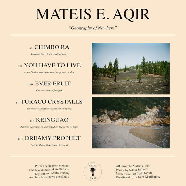 Mateis E. Aqir - Geography of Nowhere