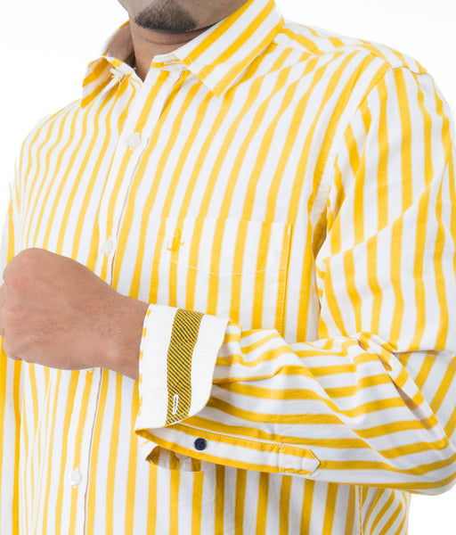 Men's Striped Casual Shirt
