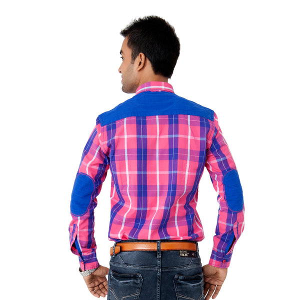 Men's Checked Casual Shirt - Pink