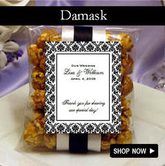 personalized Damask Wedding Favors and Invitations