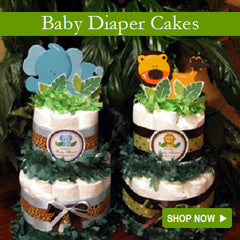 Baby Shower Diaper Cakes Centerpieces Collection