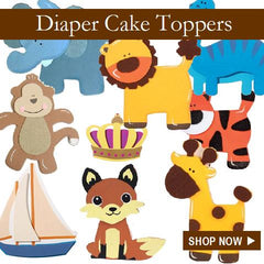 LMK Gifts Diaper Cake Toppers