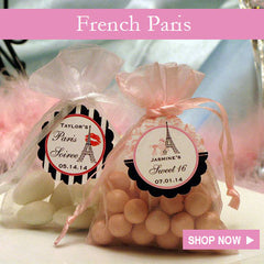 Paris French Eiffel Tower Wedding Party Favors Invitations Gifts