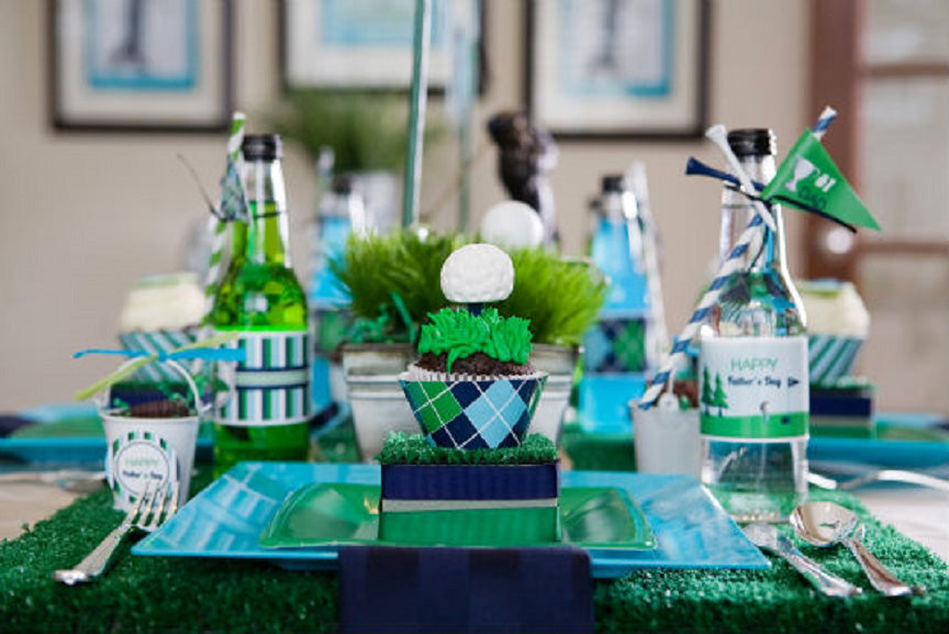 Golf Party Table Setting Idea