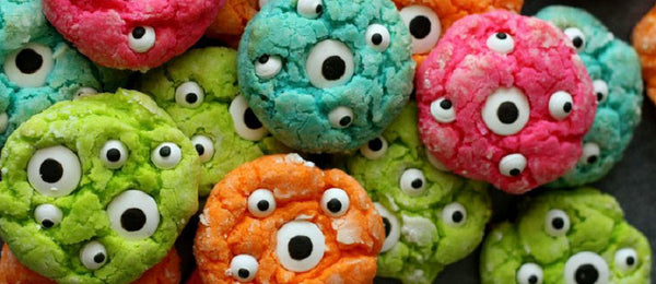 Halloween Gooey Monster Eyed Cookies
