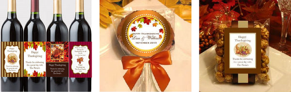 LMK Gifts personalized Thanksgiving Party Favors