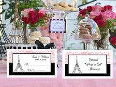 Paris French Eiffel Tower Buffet Place Cards