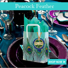 Peacock Feather Wedding Favors Invitations