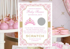 personalized pink princess baby favors