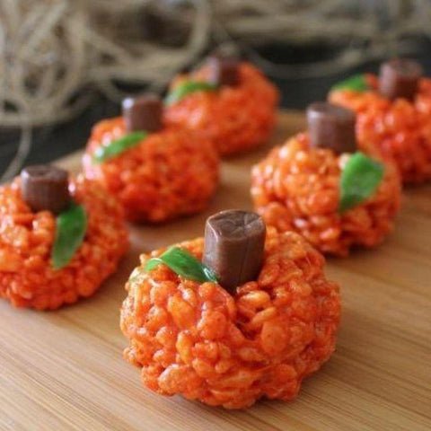 Rice Krispy Pumpkins - fun to make with Kids!