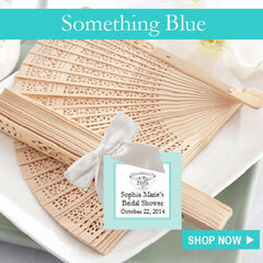Something Blue Bridal Birthday Party Favors and invitations