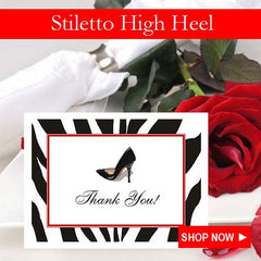 Stiletto High Heel Shoe Party Favors and Invitations