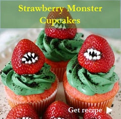 Strawberry Monster Cupcakes Recipe