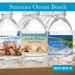 Summer Ocean Beach Party Favors and Invitations