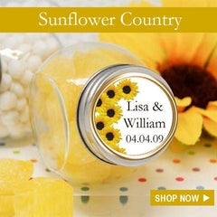 Sunflower Wedding Bridal Party favors and gifts