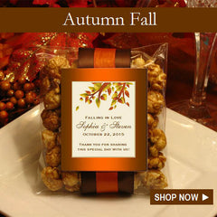 Autumn Fall Maple Leaves Wedding Favors and Invitations