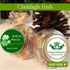 Claddah Irish personalized wedding favors