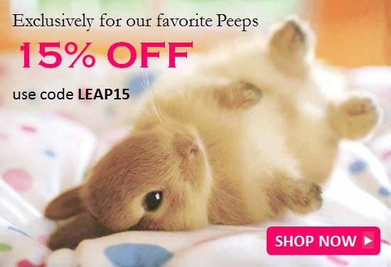 Happy Leap Day save 15% with coupon code LEAP15