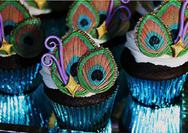 Peacock Cupcake Decorations
