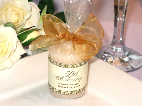 Anniversary Party Gift Candle Votive Favors