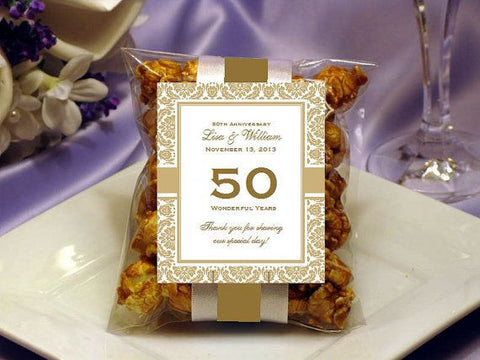 Anniversary Party Gift Caramel Corn Favors
