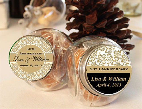 anniversary mini glass jars