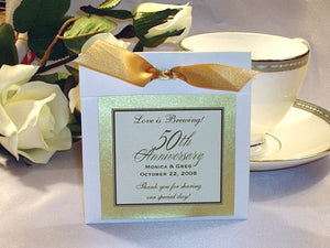 Anniversary Party Gift Tea or Coffee Favors