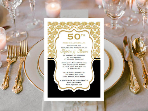 Anniversary Party Invitations Announcements
