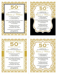 anniversary invitations announcements