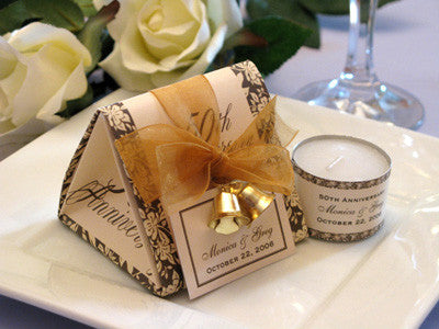 Anniversary Party Gift Origami Favor Boxes with Bells