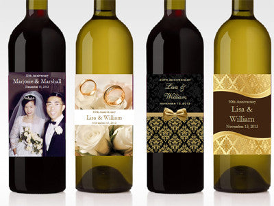 Anniversary Party Gift Wine Bottle Labels Stickers
