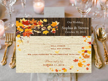 Autumn Fall Burlap and Lace Response Cards